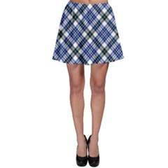 Navy Plaid Skater Skirt by CoolDesigns