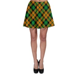 Yellow Plaid Skater Skirt by CoolDesigns