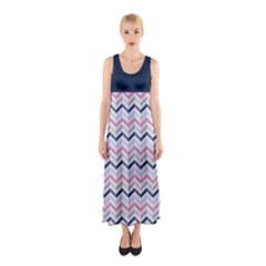 Maxi Dress - Chevron 02 Full Print Maxi Dress by CoolDesigns