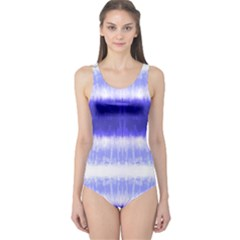 Blue Tie Dye One Piece Swimsuit by CoolDesigns