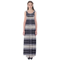 Black Stripes Empire Waist Maxi Dress by CoolDesigns