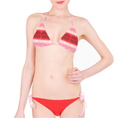Red Stripes Tie Dye Bikini Set Bikini Set by CoolDesigns