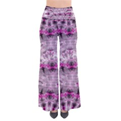 Pink Gray Tie Dye Chic Palazzo Pants by CoolDesigns