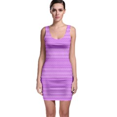 Purple Chevron Pattern Bodycon Dress by CoolDesigns