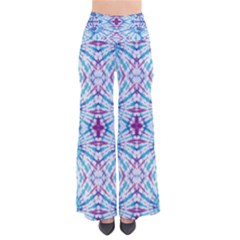 Blue & Purple Tie Dye Palazzo Pants by CoolDesigns