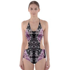 Dark Damask Cut Out One Piece Swimsuit by CoolDesigns