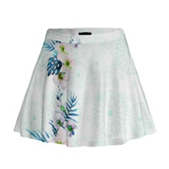 Light Blue Hawaii  2 Mini Flare Skirt by CoolDesigns