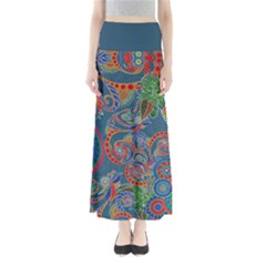 Dark Mint Paisley Maxi Skirt by CoolDesigns
