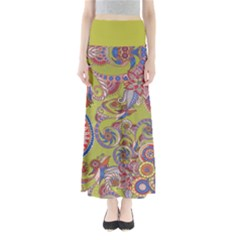 Olive Paisley Maxi Skirt by CoolDesigns