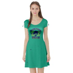 Green Hawaii 2 Short Sleeve Skater Dress by CoolDesigns