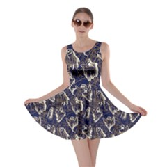 Navy Ghost Halloween Skater Dress