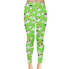 Neon Green Eyeball Leggings  by CoolDesigns