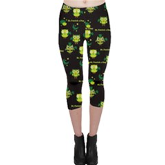 Owl Clover Capri Leggings  by CoolDesigns