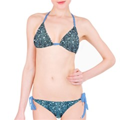 Blue Water With Pattern Tree Japanese Cherry Blossom Bikini Set by CoolDesigns