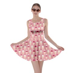 Pink Pattern With Ice Cream Cones Against Pink Skater Dress by CoolDesigns