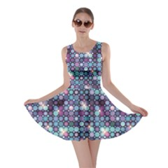 Blue Blue And Violet Circle Lights Skater Dress by CoolDesigns