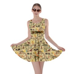 Yellow Ethnic African Skater Dress by CoolDesigns