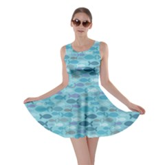 Blue Fish Silhouettes Skater Dress