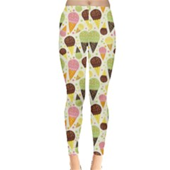 Colorful Pattern Of Ice Cream Women s Leggings by CoolDesigns