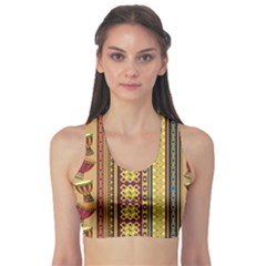 Colorful African Drum Ornament Women s Sport Bra by CoolDesigns