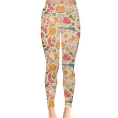 Colorful Food Pattern Suitable For Food Packaging Women s Leggings by CoolDesigns