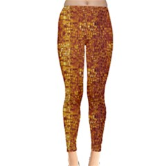 Brown Leather Animal Snake Reptile Crocodile Pattern Women s Leggings by CoolDesigns