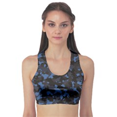 Black Camouflage Pattern Women s Sport Bra by CoolDesigns