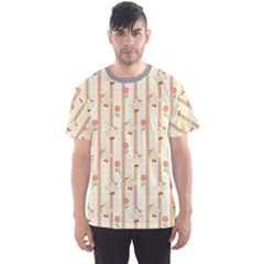 Yellow Cute Duck Pattern Men s Sport Mesh Tee