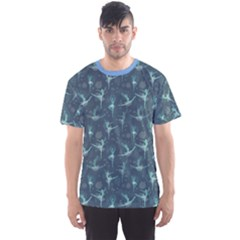 Blue Fancy Snowflake Ballet Dancers Men s Sport Mesh Tee