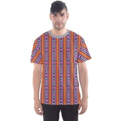 Colorful Ethnic Vertical Stripes Pattern Men s Sport Mesh Tee by CoolDesigns