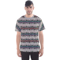 Colorful Grunge Hand Painted Pattern Men s Sport Mesh Tee by CoolDesigns