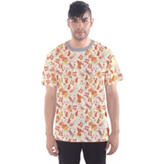 Colorful Watercolor Pattern With Insects Bees And Butterflies Men s Sport Mesh Tee