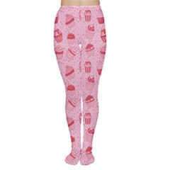 Pink Pattern With Sweet Cupcakes Women s Tights