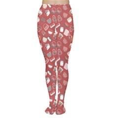 Red Retro Woman Bags Colorful Design Women s Tights by CoolDesigns