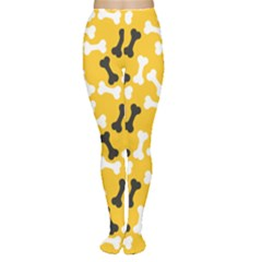 Yellow Pattern Bone For A Dog Women s Tights by CoolDesigns