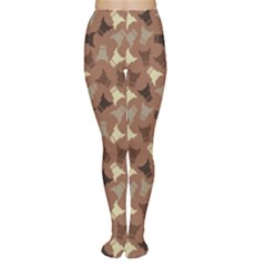 Brown : Cow Design Pattern Women s Tights