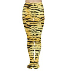 Yellow Tiger Pattern Women s Tights by CoolDesigns