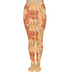 Orange Beautiful With Yellow And Orange Alstroemeria Women s Tights