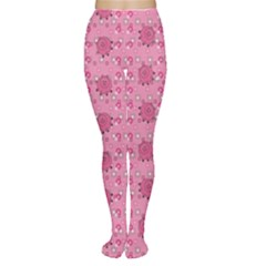 Pink Pattern With Cute Pigs Women s Tights by CoolDesigns