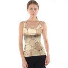Brown Tree Rings Saw Cut Tree Trunk Wallpaper Tank Top by CoolDesigns