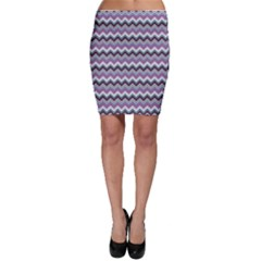 Purple Wave Chevron Pattern Bodycon Skirt by CoolDesigns