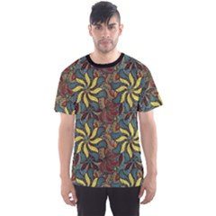 Colorful Floral Pattern Men s Sport Mesh Tee by CoolDesigns
