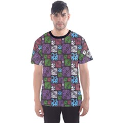 Colorful Decorative Pattern Men s Sport Mesh Tee by CoolDesigns