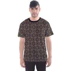 Dark Vintage Geometric Ornament Lineart Pattern Men s Sport Mesh Tee by CoolDesigns