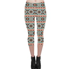 Colorful Colorful Navajo Pattern Capri Leggings