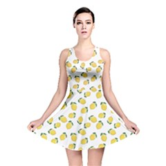 Yellow Pattern Lemon Reversible Skater Dress by CoolDesigns