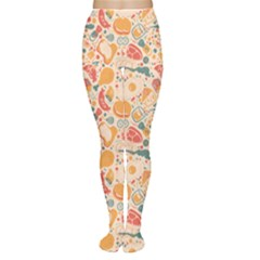 Colorful Food Pattern Suitable For Food Packaging Women s Tights