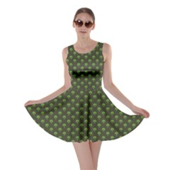 Green Pattern Clover St Patrick Skater Dress by CoolDesigns