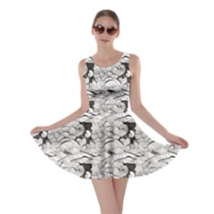 Gray Seashell Pattern Sea Design Skater Dress