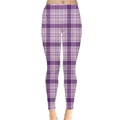 Purple Tartan Plaid Pattern Leggings by CoolDesigns